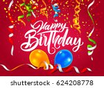 vector illustration of a happy... | Shutterstock .eps vector #624208778
