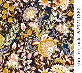 incredible flower pattern.... | Shutterstock .eps vector #624211382