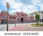 casa rosada  pink house  ...   Shutterstock . vector #624216002