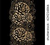beautiful golden  abstract...   Shutterstock .eps vector #624216866