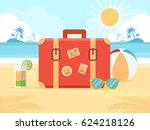 summer vacation concept. travel ... | Shutterstock .eps vector #624218126