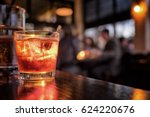 cocktail close up in a bar... | Shutterstock . vector #624220676