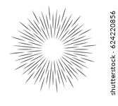 rays on a white background ... | Shutterstock .eps vector #624220856