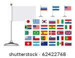 Flag Set On White Background....