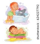 two clip art illustration on... | Shutterstock . vector #624227792