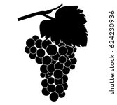 grapes icon. bunch of grapes... | Shutterstock .eps vector #624230936