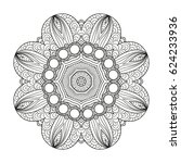 adult coloring page. mandala... | Shutterstock .eps vector #624233936