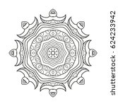 adult coloring page. mandala... | Shutterstock .eps vector #624233942