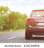 car driving on road | Shutterstock . vector #624234896