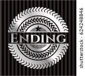 ending silver badge or emblem | Shutterstock .eps vector #624248846