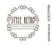 elegant frame style retro | Shutterstock .eps vector #624255986