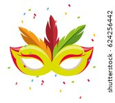 carnival mask isolated icon | Shutterstock .eps vector #624256442