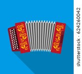 classical bayan  accordion or... | Shutterstock .eps vector #624260042