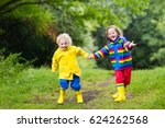 little boy and girl play in... | Shutterstock . vector #624262568