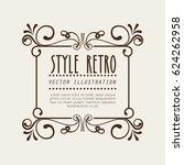 elegant frame style retro | Shutterstock .eps vector #624262958