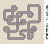 abstract geometric line retro... | Shutterstock .eps vector #624263282