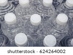 clear plastic bottles of water... | Shutterstock . vector #624264002