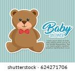 baby shower invitation card | Shutterstock .eps vector #624271706