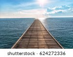 Wooden Bridge To The Ocean