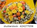 bouquet of flowers | Shutterstock . vector #624277058