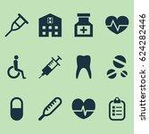 antibiotic icons set.