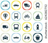 transport icons set. collection ... | Shutterstock .eps vector #624282752