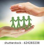 paper unity the people design ... | Shutterstock . vector #624283238