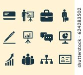 job icon set. collection of...
