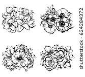 flower set | Shutterstock .eps vector #624284372