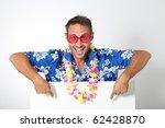 Man With Hawaiian Shirt On...