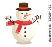 merry christmas snowman... | Shutterstock .eps vector #624294032