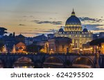 vatican city  rome  italy ... | Shutterstock . vector #624295502