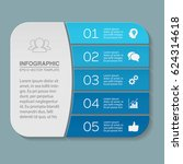 vector infographic template  5... | Shutterstock .eps vector #624314618