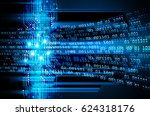 blue cyber security concept...   Shutterstock .eps vector #624318176