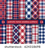 patriotic tartan set of white ... | Shutterstock .eps vector #624318698