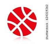 basketball icon   Shutterstock .eps vector #624319262