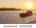 Dry Cargo Ship On The Volga In...