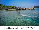 boats and the clear sea at koh...   Shutterstock . vector #624325292