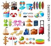 vector illustration of travel... | Shutterstock .eps vector #624328592