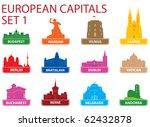european capital symbols.... | Shutterstock .eps vector #62432878