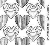 black and white seamless... | Shutterstock .eps vector #624328892
