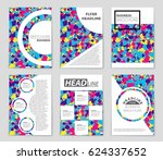 abstract vector layout... | Shutterstock .eps vector #624337652