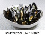 mussel with white wine sauce ... | Shutterstock . vector #62433805