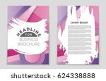 abstract vector layout... | Shutterstock .eps vector #624338888