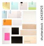 set of vintage paper notes... | Shutterstock . vector #62433925