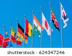 flags of different countries on ... | Shutterstock . vector #624347246