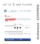 set of 5 audio music web...