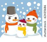 snowman family | Shutterstock .eps vector #62435686