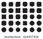 collection set of button  label ... | Shutterstock .eps vector #624357326