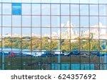 multistorey specular skyscraper ... | Shutterstock . vector #624357692